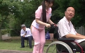 Subtitled deviant japanese half exposed caregiver absent from