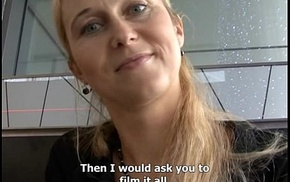 Czech streets - tow-haired milf white-haired waiting spur
