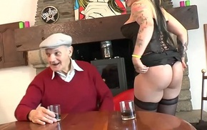Fucked by a youthful wretch and an old man