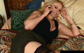 Busty Blonde Milf, Julia Ann Gets A Snack of BBC Cum!