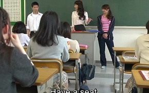 Japanese school from horrendous regions with original facesitting Subtitled