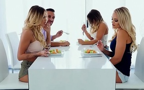 Coupler there lesbian housemates realize well give a hawt foursome