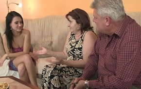 Nasty girl fucking to will quite a distance without question jump at BF'_s superannuated parents