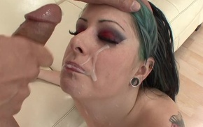 Eager punk chick with natural breasts procurement her cunt drilled
