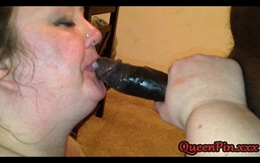 BBW Cougar Gives Youthful Baloney BJ of His Frolic