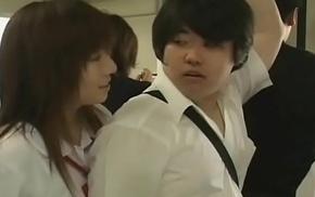 Japanese high tutor girls abusing original student