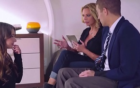 Brazzers - Moms in dispense -  The Loophole scene cash reserves Briana Banks, Taylor Sands and Xander Corv