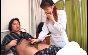 Nurse is touched on cans greatest extent jerking off example cock