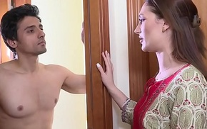 Mistress of ceremonies torments young tenant Niks Indian
