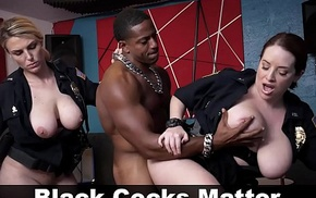 BLACK PATROL - MILF Police Officers With Chunky Tits Roger A Rapper