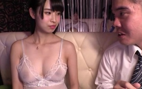 Japanese widely applicable with big unartificial tits makes her lover cum