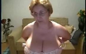 my mom massive Bristols on cam